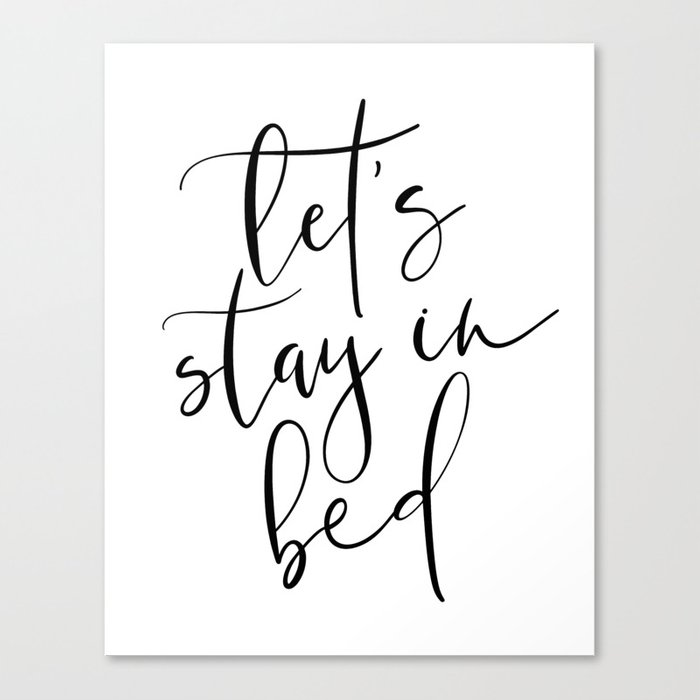 Lets stay in