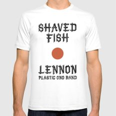 Shaved fish MEDIUM White Mens Fitted Tee