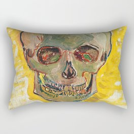 Skull by Vincent van Gogh, 1887 Rectangular Pillow