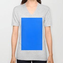 Brandeis blue Unisex V-Neck