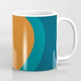 Moderna Bold - Minimalist Abstract Pattern in Teal, Blue, and Orange Coffee Mug