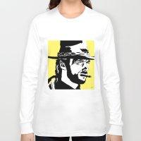clint barton Long Sleeve T-shirts featuring Clint by Gary Barling
