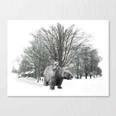 Little Billy's Polar Playtime Canvas Print
