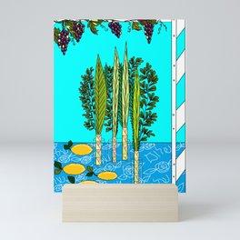 A Sukkot, Lulav and Estrog, Celebration Mini Art Print