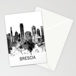 Brescia Italy Skyline BW Stationery Cards