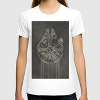 falcon T-shirts featuring Millennium Falcon by LindseyCowley