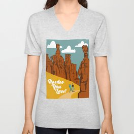 National Parks Print | Bryce Canyon National Park | Hoodoo You Love | Hiking Unisex V-Neck