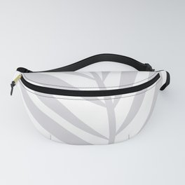 Tropical Gray Leaf Fanny Pack