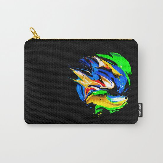 palette of bright colors on black 1 Carry-All Pouch