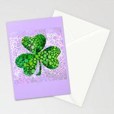 Green Shamrock Art by Sharon Cummings Stationery Cards