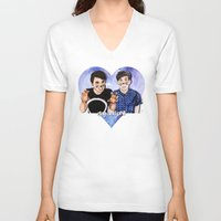 danisnotonfire V-neck T-shirts featuring DAN AND PHIL by Share_Shop