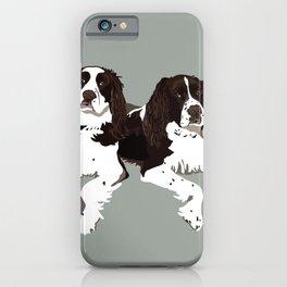 Springer Spaniel Buddies iPhone Case