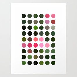 Pink Roses in Anzures 5  Dots Art Print