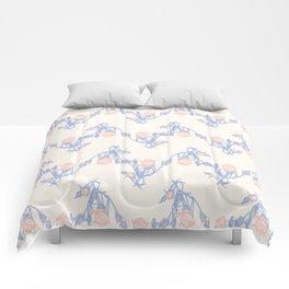 Rose Buds Chevron Pattern Comforters