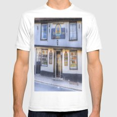 The Coopers Arms Pub Rochester White MEDIUM Mens Fitted Tee