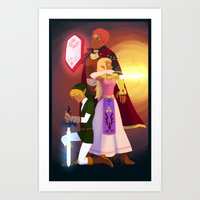 triforce Art Prints featuring Triforce by Puck