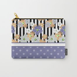 Floral pattern With textured polka dots. Carry-All Pouch