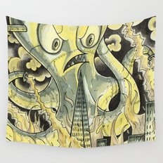 Steamechanical Octopus Wall Tapestry