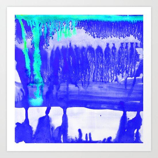 Dip Dye Ultramarine Art Print