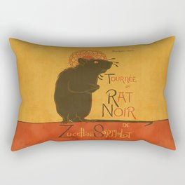 Le Rat Noir Rectangular Pillow