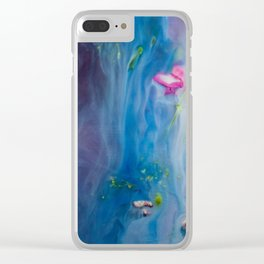 Synaesthesia Blue Clear iPhone Case