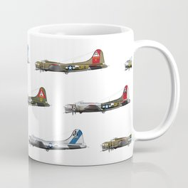 Classic B-17 Flying Fortress Continuous Pattern Coffee Mug