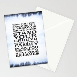 Stand your ground by Brian Vegas Stationery Cards