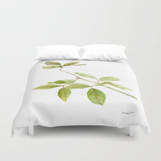 A branch of the tree Psidium fortium Duvet Cover