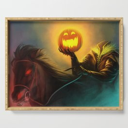 Headless Horseman: All Hallows' Eve Greetings Serving Tray