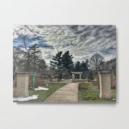 Rose Garden at Vander Veer Park Metal Print