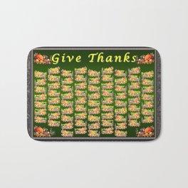 Give Thanks Bath Mat