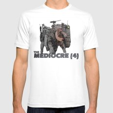 The Mediocre (4) MEDIUM Mens Fitted Tee White