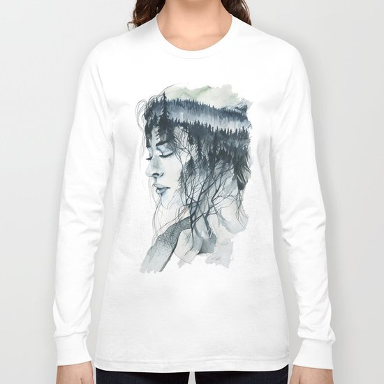 Into thick woods alone Long Sleeve T-shirt