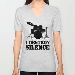 I Destroy Silence Unisex V-Neck