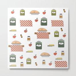 Cute Apple pie with ingredients Metal Print