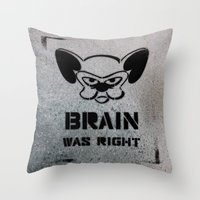 political Throw Pillows featuring Getting Political by Cowabunga