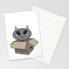 Cat in Box Stationery Cards