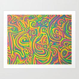 swirvled Art Print