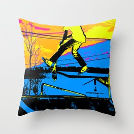 """Air Walking""  - Stunt Scooter Throw Pillow"