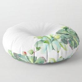 Succulent Cluster Floor Pillow