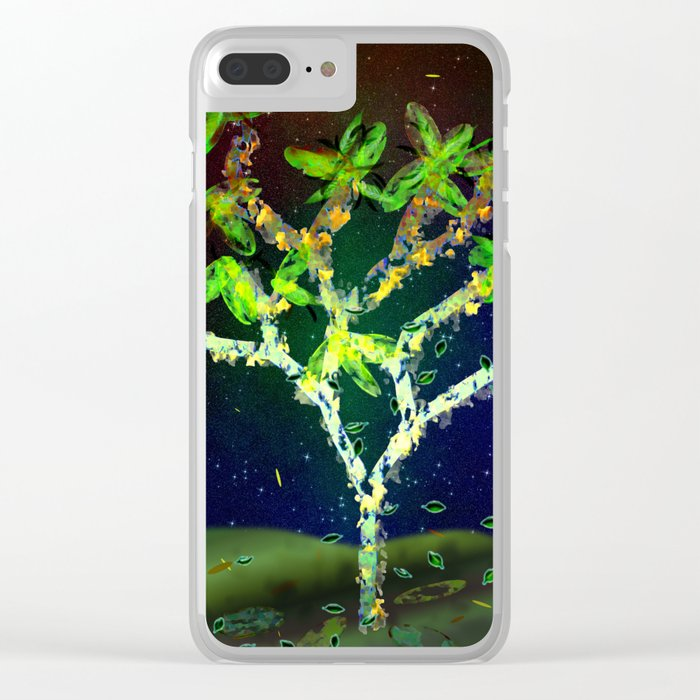 Abstract Tree Clear iPhone Case