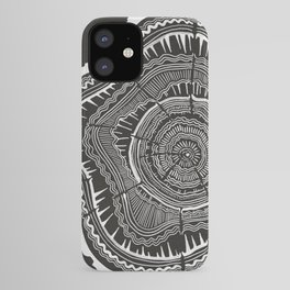 Growth Rings – 65 Years – Black iPhone Case