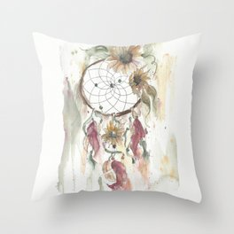 Dream catcher in earthy tones Throw Pillow