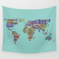 decal Wall Tapestries featuring Overdose World by Bianca Green