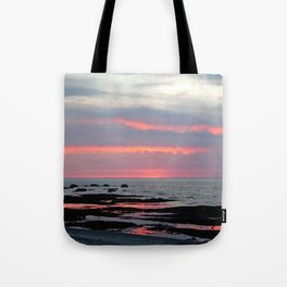 Texture Filled Clouds Tote Bag