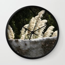 Flowering Pampas Grass Plumes Wall Clock