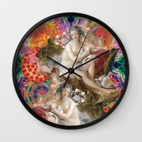 netflix Wall Clocks featuring netflix and chill by STORMYMADE