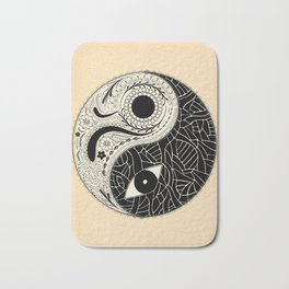 - yin & yang - [collaborative art with famenxt] Bath Mat