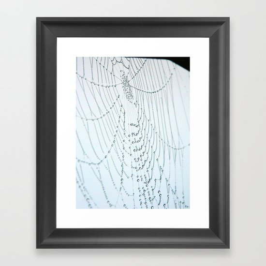 Spider Mandala Framed Art Print