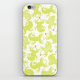 Lizards love highlighters iPhone Skin